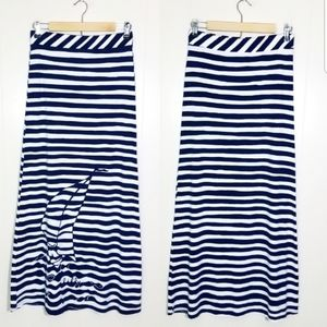 Lilly Pulitzer Nautical Striped Maxi Skirt